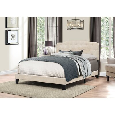 Barbery Upholstered Panel Bed Size: King, Upholstery: Linen
