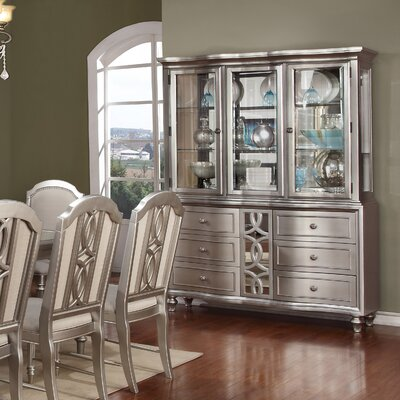 Delmare Lighted China Cabinet
