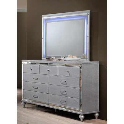 Finchley 9 Drawer Dresser with Mirror