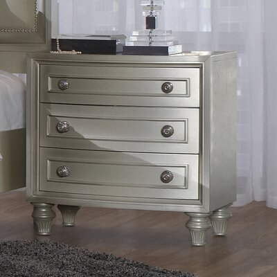 Redick 3 Drawer Nightstand