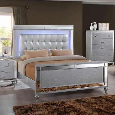 Regents Upholstered Panel Bed Size: Queen