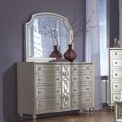 Redick 8 Drawer Dresser with Mirror