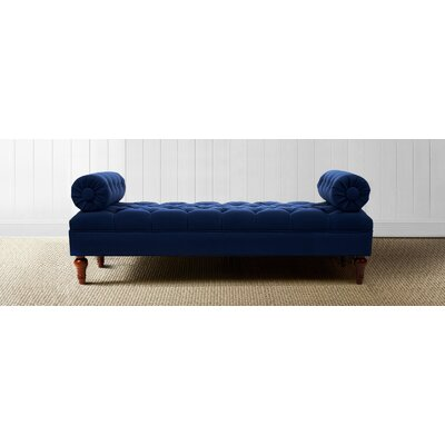Lindon Bolstered Lounge Bedroom Bench Color: Midnight Blue