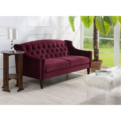 Pamelia Sofa Color: Burgundy