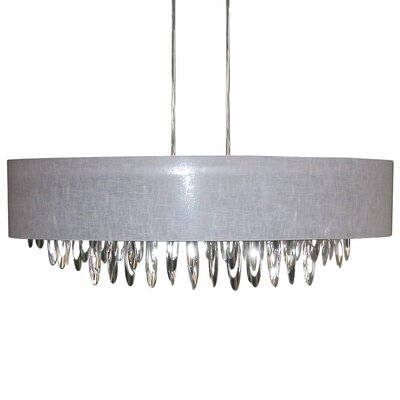 Edmon 8-Light Kitchen Island Pendant Shade Color: Gray