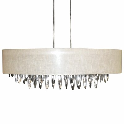 Edmon 8-Light Kitchen Island Pendant Shade Color: Cream