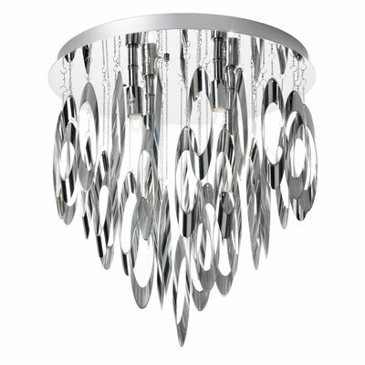 Edmon 4-Light Steel Flush Mount