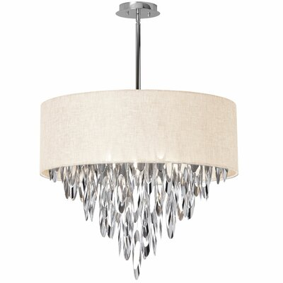 Edmon Contemporary 8-Light Crystal Chandelier Shade Color: Cream