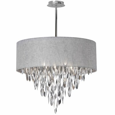 Gowin 8-Light Crystal Chandelier Shade Color: Gray