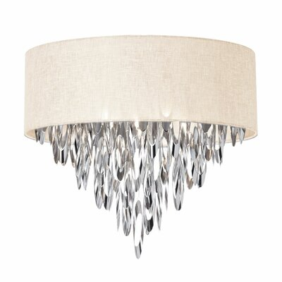 Edmon 4-Light Flush Mount Shade Color: Cream