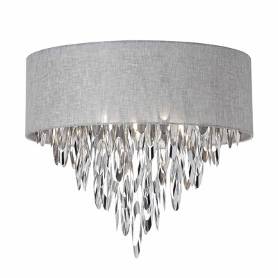 Gowin 4-Light Flush Mount Shade Color: Gray