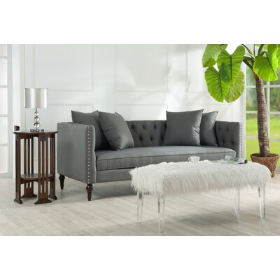 Jackson Chesterfield Sofa Color: Gray