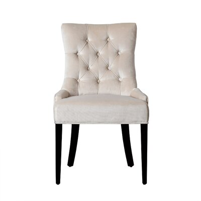 Barrell Side Chair Upholstery: Cream
