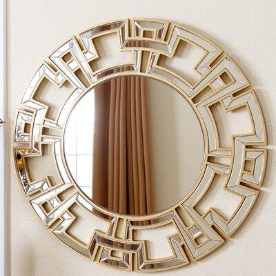 Openwork Round Wall Mirror Finish: Gold