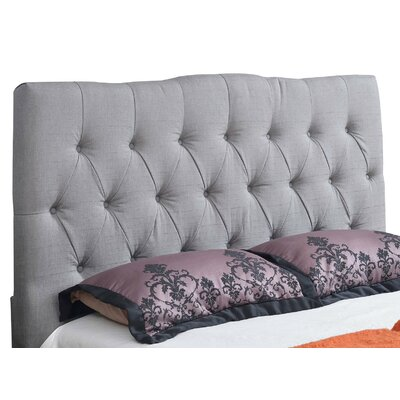 Isla Upholstered Panel Headboard Size: Full, Upholstery: Grey
