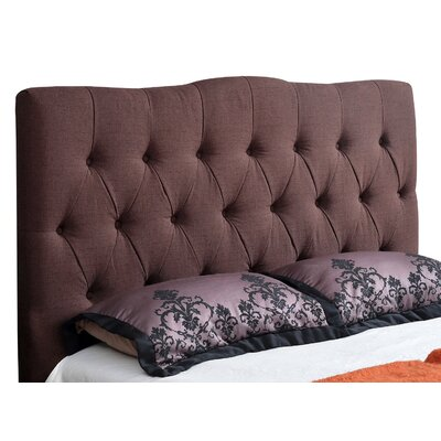 Isla Upholstered Panel Headboard Size: Full, Upholstery: Chocolate