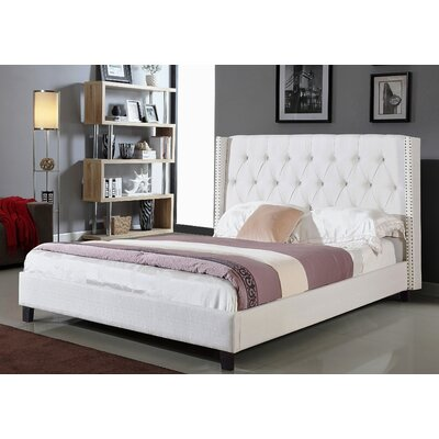 Ivanna Upholstered Platform Bed Upholstery: Chocolate, Size: King