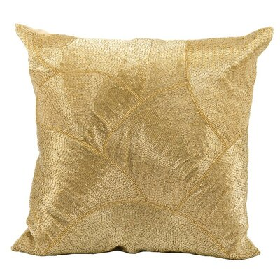 Sharonda 100% Cotton Throw Pillow Color: Gold