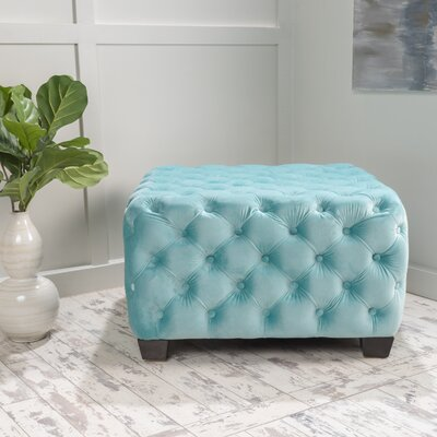 Crane Cocktail Ottoman Upholstery: Aqua Green