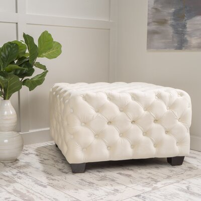 Crane Cocktail Ottoman Upholstery: Ivory