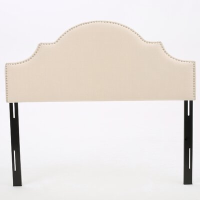 Atterberry Upholstered Panel Headboard Upholstery: Beige, Size: Twin