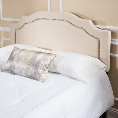 Bayle Full/Queen Upholstered Panel Headboard Upholstery: Beige