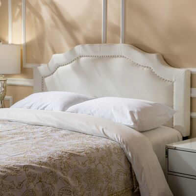 Aulay Full/Queen Upholstered Panel Headboard Upholstery: Ivory