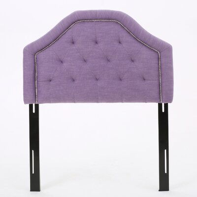 Baysden Upholstered Panel Headboard Upholstery: Light Purple, Size: Full / Queen