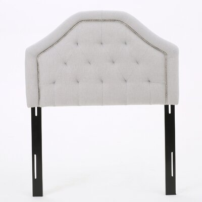 Bridges Upholstered Panel Headboard Upholstery: Light Gray, Size: Full / Queen