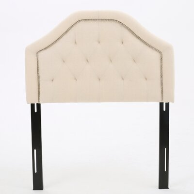 Bridges Upholstered Panel Headboard Upholstery: Beige, Size: Twin