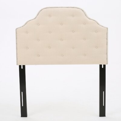 Boylan Upholstered Panel Headboard Upholstery: Beige, Size: Twin