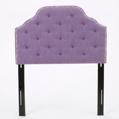 Bayliff Upholstered Panel Headboard Upholstery: Light Purple, Size: Full / Queen