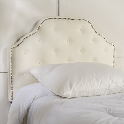 Boylan Upholstered Panel Headboard Upholstery: Ivory, Size: Twin