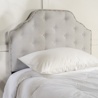 Bayliff Upholstered Panel Headboard Upholstery: Light Gray, Size: Twin