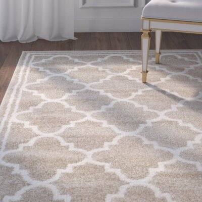 Maritza Wheat/Beige Area Rug Rug Size: Rectangle 9 x 12