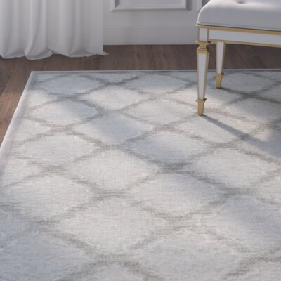 Berloz Gray/Spruce Area Rug Rug Size: Rectangle 76 x 106