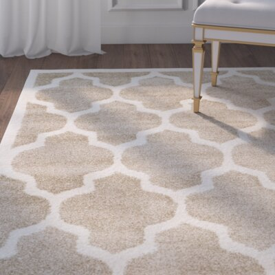 Maritza Wheat/Beige Woven Area Rug Rug Size: Rectangle 4 x 6