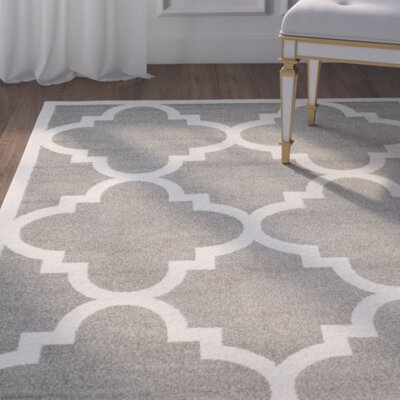 Maritza Dark Grey/Beige Indoor/Outdoor Area Rug Rug Size: Rectangle 4 x 6