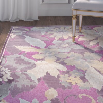 Berloz Purple/Fuchisa Area Rug Rug Size: Rectangle 33 x 57