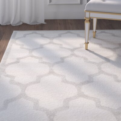 Maritza Beige/Light Grey Flat Woven Area Rug Rug Size: Rectangle 26 x 4