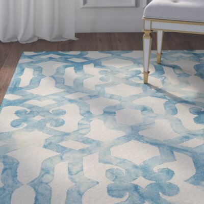 Farragutt Hand-Tufted Ocean Area Rug Rug Size: Rectangle 96 x 136