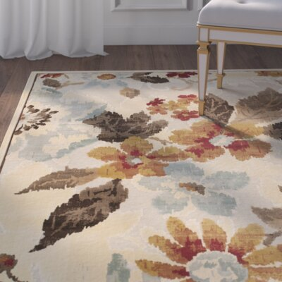 Berloz Cream/Brown Area Rug Rug Size: Rectangle 8 x 112