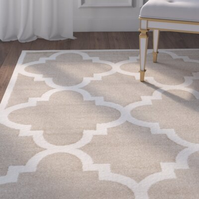 Maritza Wheat/Beige Indoor/Outdoor Area Rug Rug Size: Rectangle 4 x 6