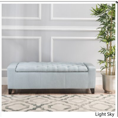 Ilchester Upholstered Storage Bench Upholstery: Light Sky