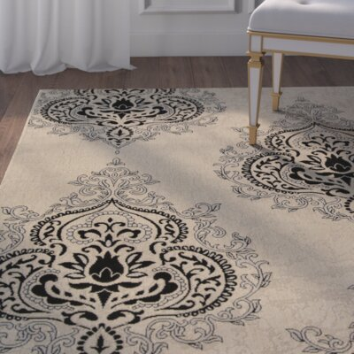 Mayer Fancy Cream Indoor/Outdoor Area Rug Rug Size: 53 x 77