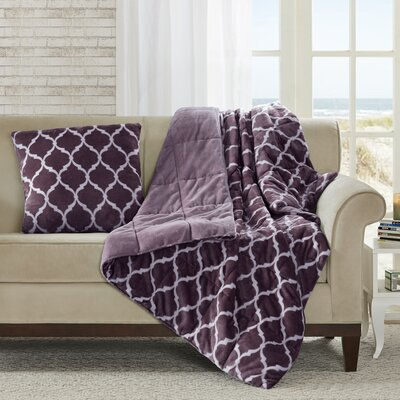 Rosalie Oversized Down Alternative Throw Color: Purple