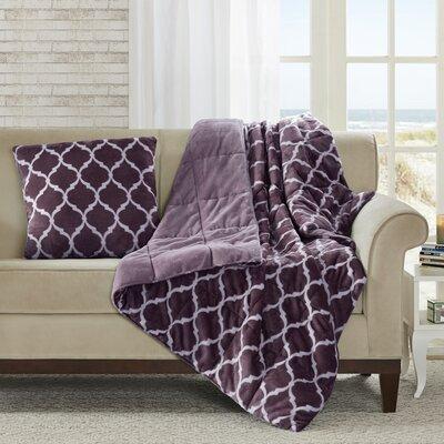 Flannagan Oversized Down Alternative Throw Color: Purple
