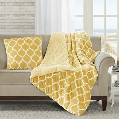 Flannagan Oversized Down Alternative Throw Color: Yellow