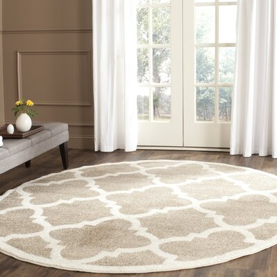 Maritza Wheat/Beige Indoor/Outdoor Area Rug Rug Size: Round 7