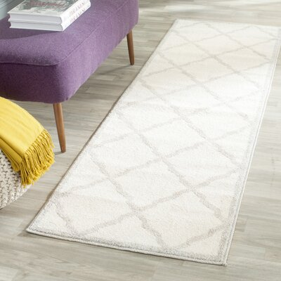 Levon Beige/Light Grey Area Rug Rug Size: Runner 23 x 11